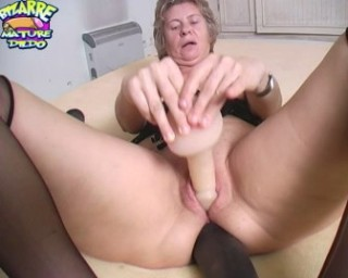 She really loves that rubber monster cocks