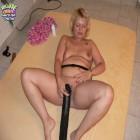 See her fucking that huge black dildo